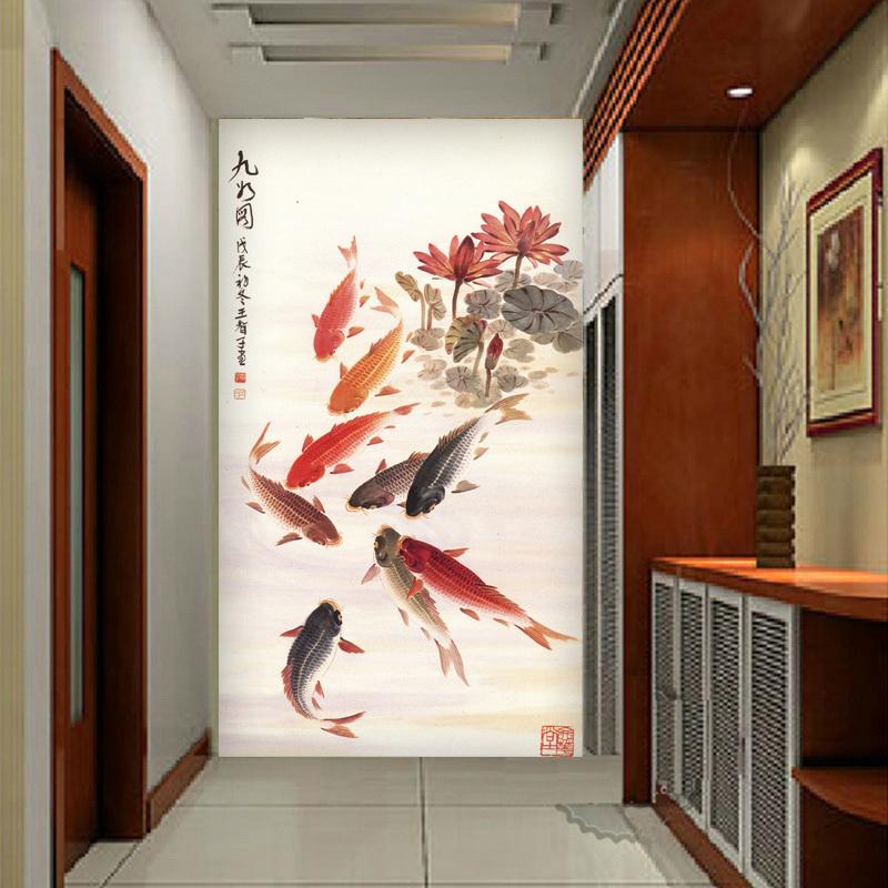 Chinoise papier peint papier peint 3d hall d 39 entr e - Papier peint entree couloir ...