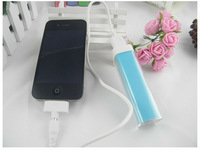 60pcs(20sets) Lipstick POWER BANK for samsung ,2600MAH Portable External Battery Charger Power Pack for mobile phone fedex free