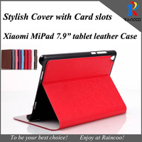 Brand New Form Xiaomi Mipad High quality Super slim PU leather case,Mipad leather stand cover with card slots,many color