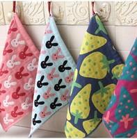 freeshipping_Wholesale 5pcs/lot 30CM x30CM Lovely strawberry lovers towel,fahion hand towel householder