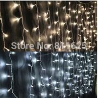 3m*3m 300LEDs lights flashing lane LED String curtain light Christmas home garden festival lights 220v-240V  EU UK  AU