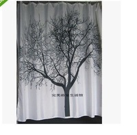 Shower Curtains Black Tree
