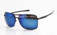 2014 New Style Designer Metal Sunglass Men's/Women's Brand Plaintiff Squared OO4063 Black Sunglass Blue Iridium Lens Polarized
