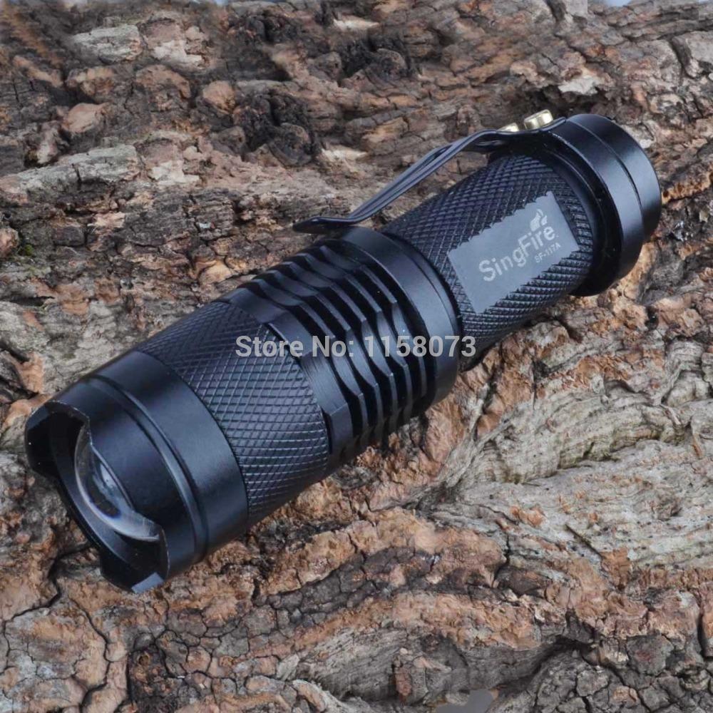 Hochleistungs-taschenlampe taschenlampe für Camp flashlightcree xp-e licht fahrrad singfire sf-117a r2 280lm 3- Modus Zoomen led-taschenlampe