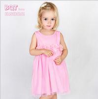 Infants and young children's clothing summer new baby flowers gauze dress princess dress children dress original single