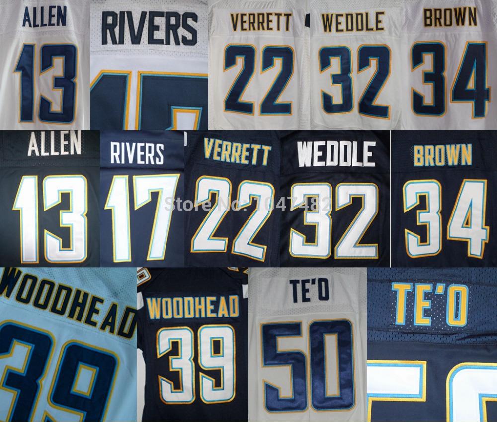 2014 YOUTH American Football 13 Allen,17 Rivers,24 Mathews,32 Weddle,50 Te'd,54 Ingram,61 Hardwick,80 FLOYD,85 Gates Jersey SALE(China (Mainland))