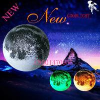 3 colors moonlight indoor LED wall moon lamp with remote control novel lamp