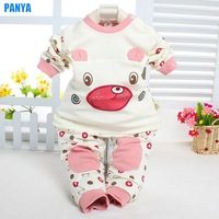 3pcs/lot 100% cotton baby set new 2014 autumn children set for girl baby clothes wholesale PANYA HR10