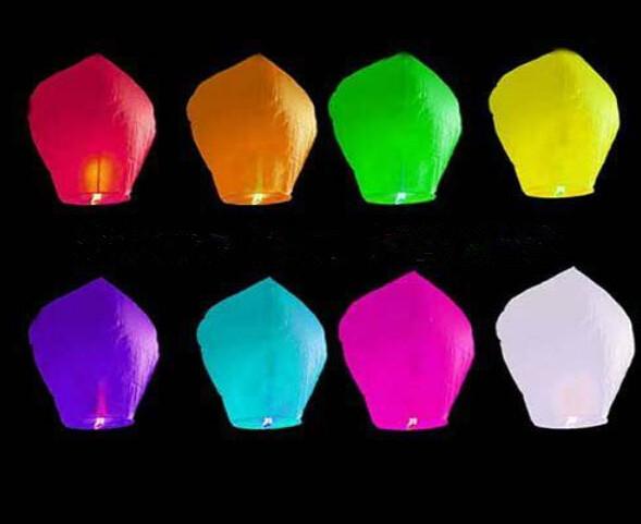 Wishing Lantern fire balloon Chinese Kongming lantern Wish Lamp Sky Lanterns Free Shipping(China (Mainland))