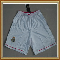 Free Shipping!!!14/15 Real Madrid Home White Soccer Short,Thailand Quality Real Madrid White Short+Embroidery Logo Short Pants