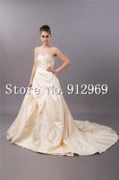 Free shipping 2014 custom made maternity wedding dress plus size champagne wedding dresses