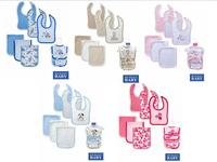 Hudson Baby 6pieces/lot Baby Bibs Super Soft 6 Piece Newborn Bebe Bibs&Burp Clothing Set Baby Porduct