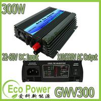 CE approved 22-60V DC input,120/230V AC output, 300W mppt solar  grid tie inverter