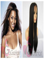 Free Shipping Synthetic Lace Front Wigs 2# Natural Black Silky Straight Heat Resistant Synthetic Hair 10''-24'' in Stock Cheap