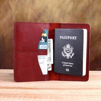 Free shipping multi-purpose100% genuine leather Travel passport credit ID card cash holder passport case bag wholesale/retail