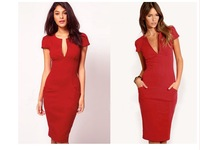 new hot European and American trade of the original single- sleeve dress temperament Slim pencil dress wholesale