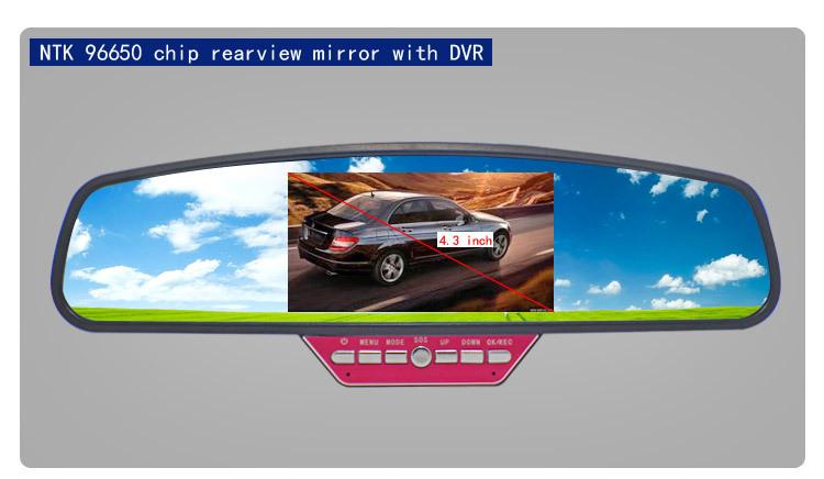 HD novatek nt96650 rear view mirror monitor gps navigation KK6000 car camera automotiva carro veicular detector(China (Mainland))