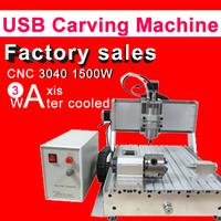 CNC 3040 3 Axis USB  port engraving machine 1.5KW Ball Screw CNC Carving Machine 3040 water cool Cutting Machine