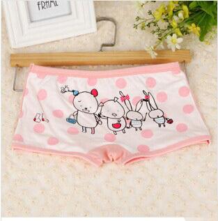 2014 Hot Sell Frozen Cotton Cartoon Girls Boxer Briefs Baby Panties Colors Mixing(China (Mainland))