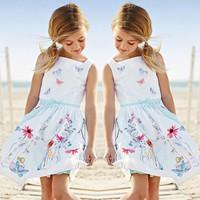 Girl Princess Dress 2013 New Fashion Brand Children Girls Dress Hot Saling Baby Kids Clothing Set