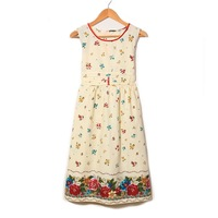 100% paragraph cotton print lacing one-piece dress maternity dress
