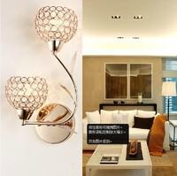 Modern Gold Crystal Lamp Bedroom Kitchen Dinning Room Lamp Living Room Wall Lamp Bathroom vintage calssical wall sconce lights