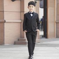 Hot selling boys tuxedo suit for wedding child blazer clothing set 7pcs:coat+vest+shirt+tie+pants+straps+belt r6305
