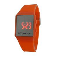 The fashion leisure silicone electronic watches, LDE display individuality watches, sports Color jelly watches