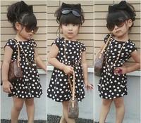 Retail princess 2014 summer 1pcs baby girls dancing clothing princess children tutu kids dress 3~12age