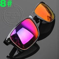 10PC /Lot Free Shipping Mix Colorful Mirror Lens  Adult Sports  HLOBROOK  Unisex Sunglasses PC Frame  Riding Fishing Sun Glasses