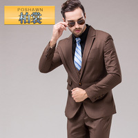 men suit set Business Wedding suits Male formal dress set british style men's suit jacket + pant + vest