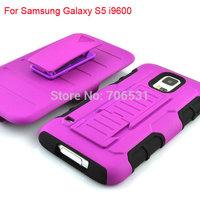 30Pcs/Lot Heavy Duty 2 In 1 Hybrid PC Silicone Hard Belt Clip Case For Samsung Galaxy S5 i9600