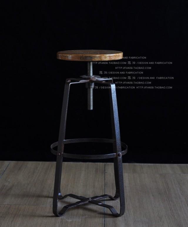 Estilo loft mobiliário francês de metal cadeiras cadeiras de bar de madeira bar cadeiras altas levantar bar fezes fezes(China (Mainland))