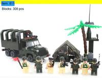 Enlighten Building Blocks Military Car Combat Zones Educational Construction Bricks Toys for Children Lego Compatible