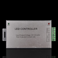 Free shipping wireless 4 keys controller 12V 12A 144W for LED RGB Stripe Led Lights