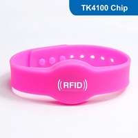 Silicone RFID wristband, RFID tag RFID Bracelet for access control with TK4100 Chip Free Shipping