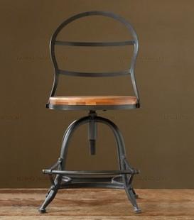 bar cadeiras rotativas alto barra tamborete fezes ferro americano madeira para fazer o francês antigo estilo retro cadeira giratória(China (Mainland))