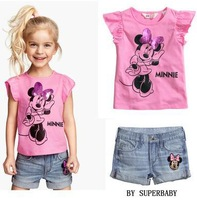 Little  girl's short sleeve leisure suit  SS360 retail free shipping