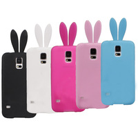 Lovely Cute Bunny TPU Skin Rabbit Soft Back Case  for Samsung Galaxy S5,i9600+free shipping