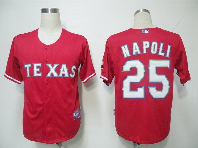 Top Quality Texas Rangers Throwback #25 NAPOLI Red Mens Baseball Jerseys Uniforms(China (Mainland))