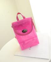 new bag 2014 fashion PVC back pack translucent back pack women small shoulder bag FREE SHIPPING LJF