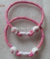 30pcs    pink ribbon breast cancer awareness  bracelet Free shipping