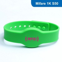 Silicone RFID wristband, RFID Wristband RFID Bracelet for access control with Original MF1 S50 Chip Free Shipping