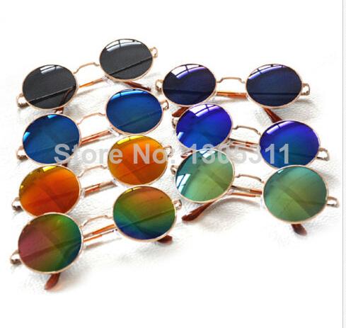 Estilo Retro Rodada Lens Frame Metal Mulheres Óculos de Sol Príncipe espelho equitação óculos de sol 1 peça freeshipping(China (Mainland))