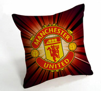1pair Free Shipping 45*45cm linen thickening world cup the football team patten cushion covers for sofa/bed/car