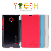 10pcs/lot Original NILLKIN Fresh Series Flip Leather Case For Nokia X  ,4 Colour  With Retail packaging+Free Shipping