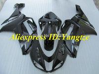 Newest Motorcycle Fairing kit for KAWASAKI Ninja ZX6R 07 08 ZX6R 636 2007 2008 All gloss black ABS Fairings set +7 gifts SC58