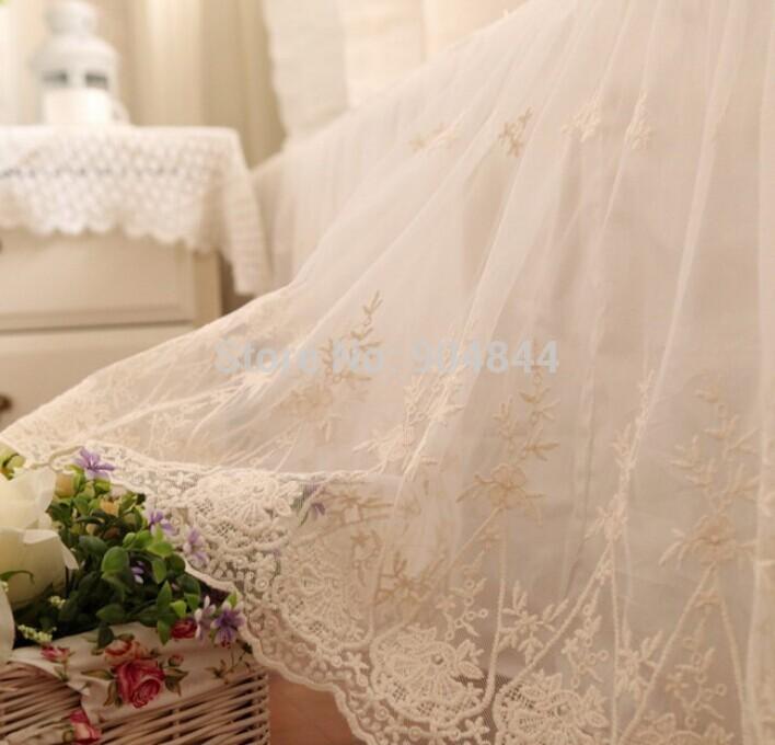 Fio de luxo bordado jogo de cama plissado, cheio rainha rei algodão, clássico têxteis domesticos bedskirts românticas fronha colcha(China (Mainland))