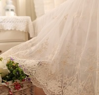 Luxury embroidered yarn ruffle bed set,full queen king cotton,Classic romantic home textiles bedskirts pillow case quilt cover