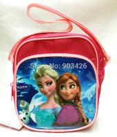 Free Shipping 100 pcs/Lot !Fashion Frozen Princes Kindergarten Messenger Bag Cartoon Baby Nursery School Shoulder Bag G3689